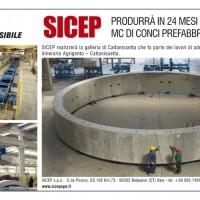 E' stato definito l'accordo che prevede la realizzazione da parte di SICEP dei conci della galleria che sorgera' nei pressi della citta' di Caltanissetta nell'ambito dei lavori di ammodernamento e adeguameto della SS 640 itinerario Agrigento – Caltanissetta. La produzione ammonta ad oltre 200.000 mc di conci in c.a. per galleria ed impegnera' lo stabilimento di Belpasso per 27 mesi a partire dall'estate 2013. E' stato definito l'accordo che prevede la realizzazione da parte di SICEP dei conci della galleria che sorgera' nei pressi della citta' di Caltanissetta nell'ambito dei lavori di ammodernamento e adeguameto della SS 640 itinerario Agrigento – Caltanissetta. La produzione ammonta ad oltre 200.000 mc di conci in c.a. per galleria ed impegnera' lo stabilimento di Belpasso per 27 mesi a partire dall'estate 2013. - QUOTIDIANO_19aprile