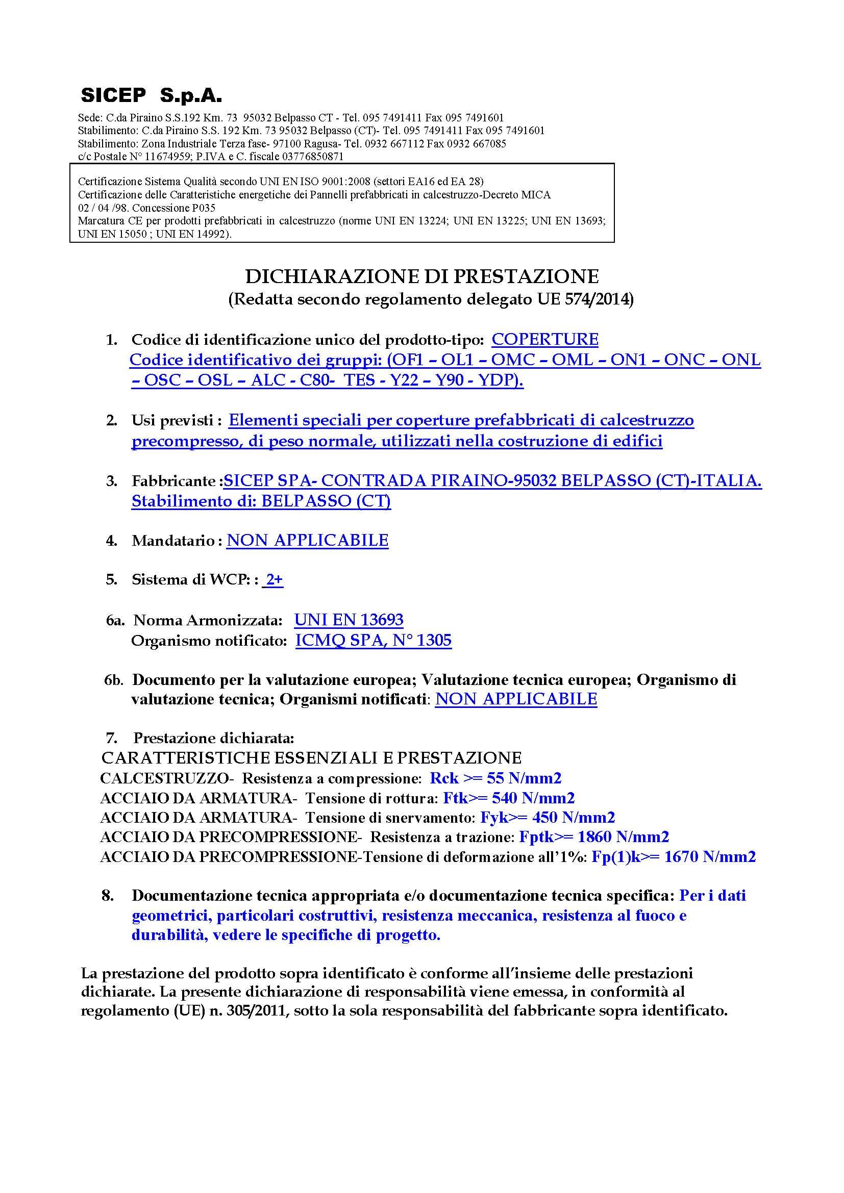 ELEMENTI SPECIALI DI COPERTURA - BELPASSO